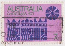 (DA879) 1971 AU 7c blue star on pink (F)