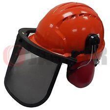 Forestry JSP EVO3 Safety Helmet Hard Hat & Face Shield Mesh Visor & Ear Muffs