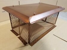 """Painted Copper Multi-Flue Chimney Cap 17""""x29"""" with 14"""" Screen 3/4 Mesh Hinged"""