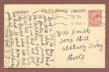 Miss Smith, Tom's Hill, Aldbury, Tring, 1918  Lowestoft,  train journey   RK320