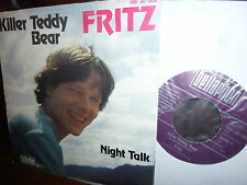"Fritz, Killer Teddy Bear, Night Talk, Austro Pop, Bellaphon 1981 Austria 7"""