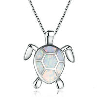 1 Pcs Sea Turtle Shape Alloy Women Girls Ladies Animal Necklace Pendant Gift S