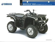 ATV Data Sheet - Yamaha - Grizzly 660 Automatic 4x4 Special Edition 2005 (V77)