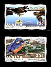 SELLOS TEMA EUROPA 1999 MALTA AVES RESERVAS NATURALES 2v .