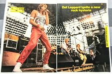 DEF LEPPARD / STEVE CLARK / 1980'S MAGAZINE CENTERFOLD PINUP POSTER + FREE DVD A