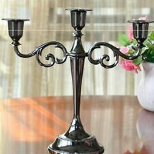 Metal 7/5Head Gold Plated Candlestick Zinc Alloy Pillar Wedding Decoration Home