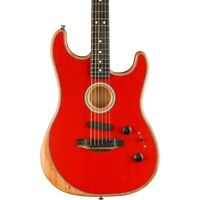 Fender Acoustasonic Stratocaster Acoustic-Electric Guitar Dakota Red