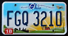 """OHIO """" BIRTHPLACE OF AVIATION - FARM """" DISCONTINUED """" OH Graphic License Plate"""