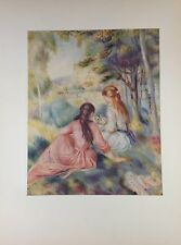 """1952 Vintage Full Color Art Plate """"IN THE MEADOW"""" by RENOIR Gorgeous Lithograph"""
