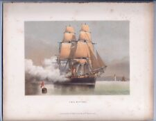 """Colored Plate of the H.M.S. Neptune from """"The Ships of the Royal Navy"""" 1885"""