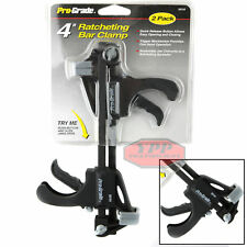 4 Inch Ratcheting Release Bar Vise Clamp Squeeze Wood Spreader Woodwork 2 Pk New