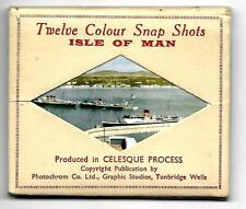 PHOTOCHROM  CELESQUE COLOUR  SNAPSHOTS ISLE OF MAN  - 12 B&W Views VINTAGE