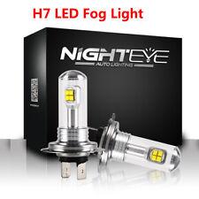 NIGHTEYE H7 Car LED Headlight Kits 160W Fog Light Bulbs 6000K Driving DRL Lamp