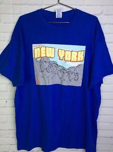 New York Mets Baseball Mount Rushmore Players Short Sleeve Blue T-Shirt Size XL
