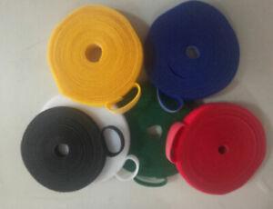 1 roll - 10 mm * 25 meter Hook & Loop Tape One Side Hook One Side Loop Fastening
