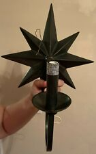 Star-Shaped Metal Wall Lamp Sconce, Bronze-Style