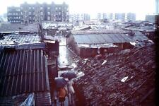 Photo. 1978-9. Mumbai, India. Sky View of Slum Street in rain
