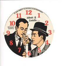 "Abbott & Costello -Clock Dial  by Bradley Time -5.5"" Diameter 1986"