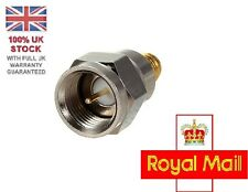 Steel F Type Male Plug To SMA Female Jack RF Coaxial Adapter Connector UK STOCK