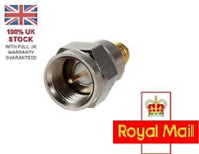 Acero Tipo F Enchufe Macho a SMA hembra RF Coaxial Adaptador de conector Jack Reino Unido Stock