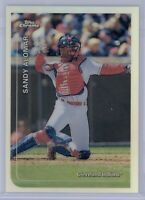 1999 Topps Chrome Sandy Alomar JR #245 Refractor Cleveland Indians SP