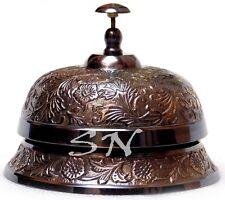 Black Antique Desk Bell Vintage Engraved Service Call Bell Decor 6' Decorative