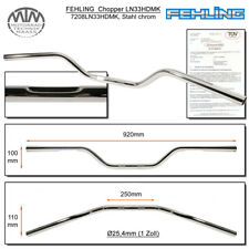 Fehling Lenker LN33HD flach & breit 1 Zoll mit Harley Delle chrom