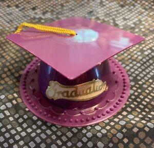 DECOPAC GRADUATION CAP/HAT PURPLE CAKE/CUPCAKE TOPPER