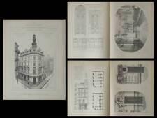 TOULON, CAISSE D'EPARGNE - PLANCHES ARCHITECTURE 1900 - DINGUIRARD PORTE