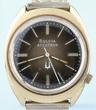 Vintage Gold Plated Bulova Accutron Watch w/ 218 Movement & Gold Expansion Band