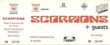 RARE / TICKET DE CONCERT - SCORPIONS A PARIS ( FRANCE ) 1993 - COMME NEUF UNUSED