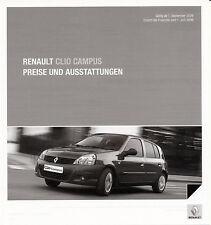 RENAULT-CLIO CAMPUS-Listino prezzi - 09/09 - tedesco-NL-commercio di spedizione