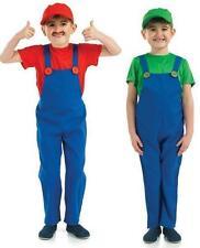 BOYS PLUMBERS MATE MARIO AND LUIGI FANCY DRESS COSTUME