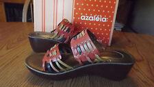 Azaleia Blossom Womans Leather Sandals Slides Slip On Multi Color  Size 7 M New