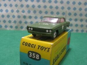 Vintage - H. Q. Staff Car Oldsmobile Super 88 - 1/43 Corgi toys 358 - MIB