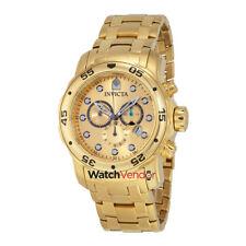 Invicta Scuba Pro Diver Chronograph Gold Dial Gold-tone Men's Watch 0074