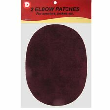 Two Faux-Suede Iron-On Elbow Patches 4.5  x 5.5 in - Burgundy
