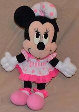 "15"" Minnie Mouse Plush Dolls Toys Stuffed Animals Pink Polka-dot Dress & Bow"