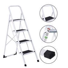 Non-slip 4 Step Ladder Folding Steel Work Platform Stool 330 Lbs Load Capacity