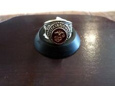 MARINE CORPS MILITARY GOLD RING RUBY CRYSTAL INLAY 18K ELECTROPLATE SIZE 13