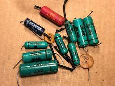 Lot of 12 vintage Tone Capacitors CRL Tiny Chief Sangamo .05 .1 uf 1956 1957