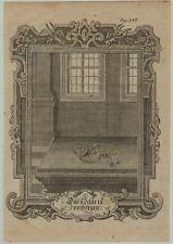 TASCHENUHR  Original Ornament Kupferstich um 1750 Uhr Uhrmacher Rollwerk Kunst