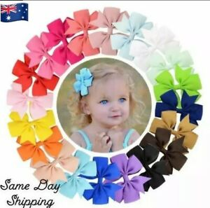 Baby Girls HairClip Bow Colourful Hair Band Accessories Headwear Toddler Clips