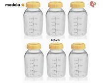 MEDELA BREAST MILK COLLECTION STORAGE BOTTLE WITH LID 5 oz/ 150 ml x6