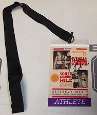 Colleen Schneider Signed Invicta FC 17 Personal Fight Used Worn Pass PSA/DNA MMA
