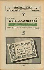 ADVERTISEMENT Burgundy Vineyard Wine Nuits Saint Georges P Misserey & Frere
