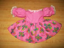 "15-17"" Cpk Cabbage Patch Kids Pink Butterfly Short Sleeve Dress W/ Lace"