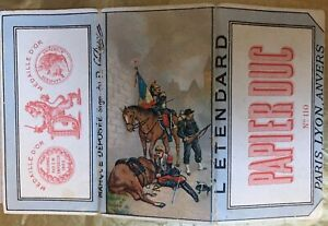 PAPIER DUC  - 19th C - L'Etendard=The Flag—Papier a Cigarettes Rolling Papers