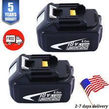 2Pcs 18V 6AH For Makita BL1860 Battery LXT400 BL1850 BL1840 BL1830 Tool Battery