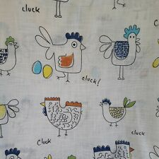 Chicken Cluck Light weight Curtains W60 X L49 Inches